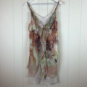 Soma Intimates Mini Dress Large Marble Pattern